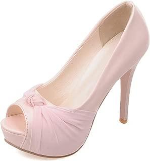 Msanlixian Woman Pumps Big Size Platform Shoes high Heel 12cm Wedding Shoe Elegant peep Toe