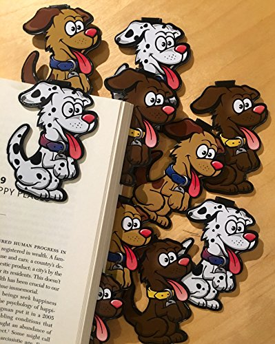 Dog Bulk Bookmarks for Kids Girls Boys - Set of 10 - Animal Bookmarks for Kids Girl's boy's Teens. Perfect for Gifts, Student Incentives, Reading Incentives, Awards!
