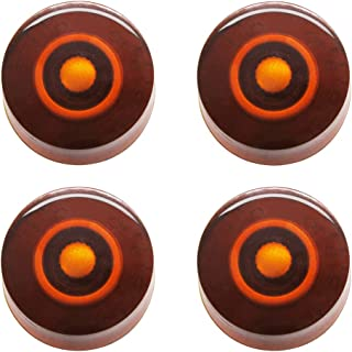 mxuteuk 4pcs Copper Color Electric Guitar Bass Top Hat Knobs Speed Volume Tone AMP Effect Pedal Control Knobs KNOB-S9