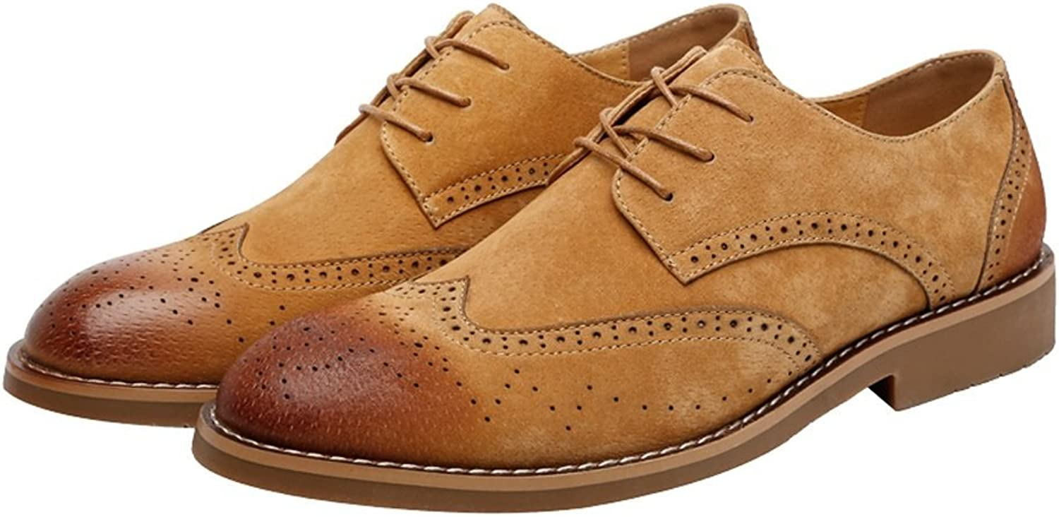 Dig dog bone Men's Leather shoes Classic Business shoes Matte Breathable Hollow Carving Genuine Leather Lace up Lined Oxfords (Suede Optional)