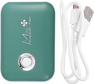 Minkissy Groene Mini Draagbare Wimper Fan Oplaadbare Handheld Mini Fan Lash Droger Voor Wimper Extension Application