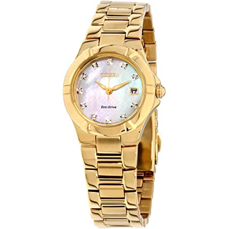 Citizen Eco-Drive Movement Mother Of Pearl Dial Ladies Watch EW1532-61D