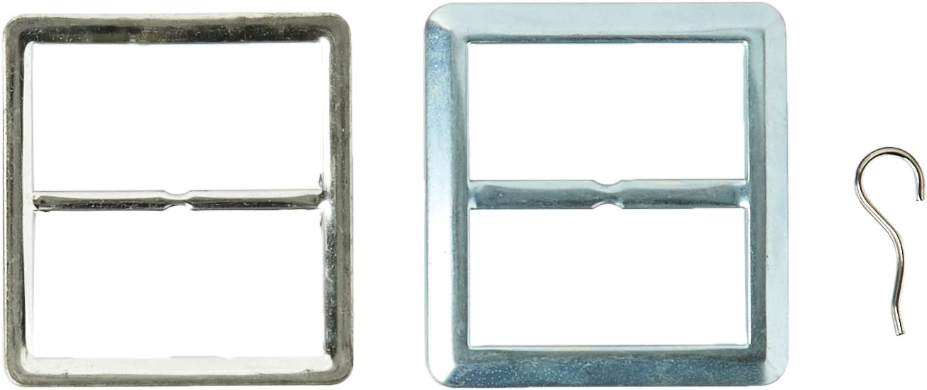 Maxant Ranking TOP6 Button BK-70 2 Square Buckle Over item handling ☆ Cover Silver 1