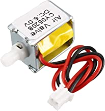 uxcell Miniature Solenoid Valve Normally Closed DC6V 0.24A Air Solenoid Valve