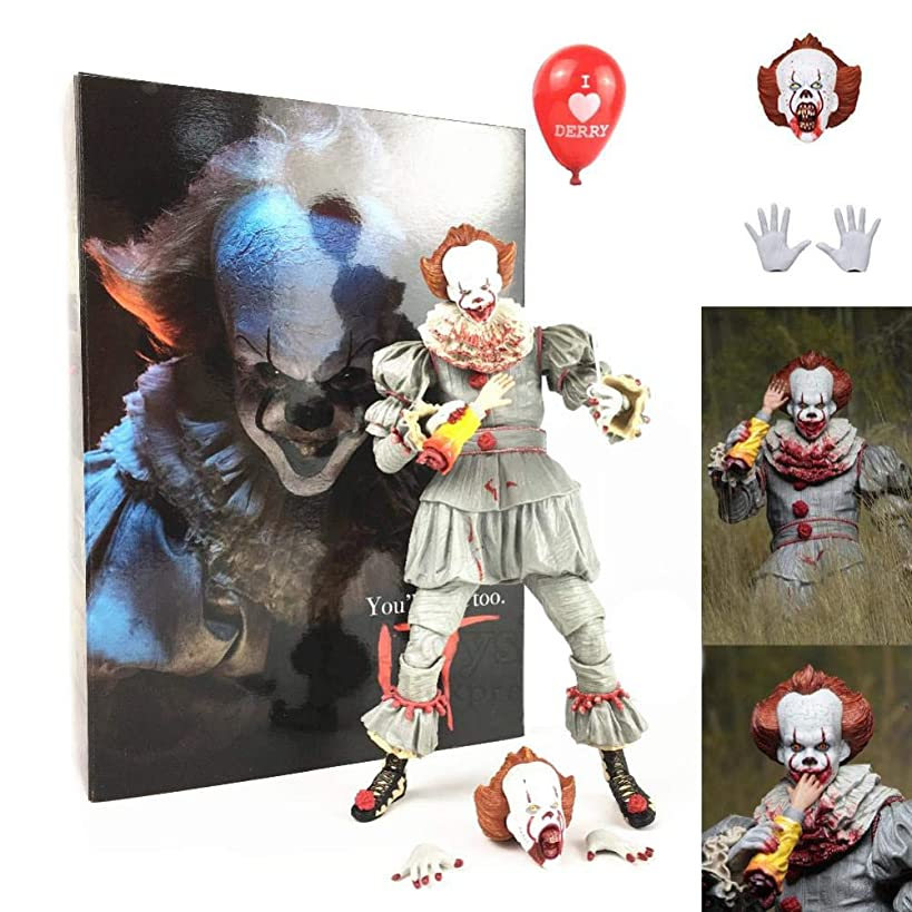 PLAYER-C Scale Bloody Edition It Action Figure Le Limited Ultimate Pennywise Sc Movie Gamestop Exclusive Doll Model