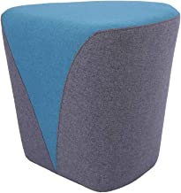 Sunon Heart Pouf Ottoman, 18.1L x17.7W x17H Vanity Stools, Matched Fabric Small Ottoman Foot Rest and Nesting Stool (Blue)