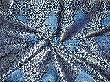 TheFabricFactory Brokat-Stoff, schwer, Tintenblau und