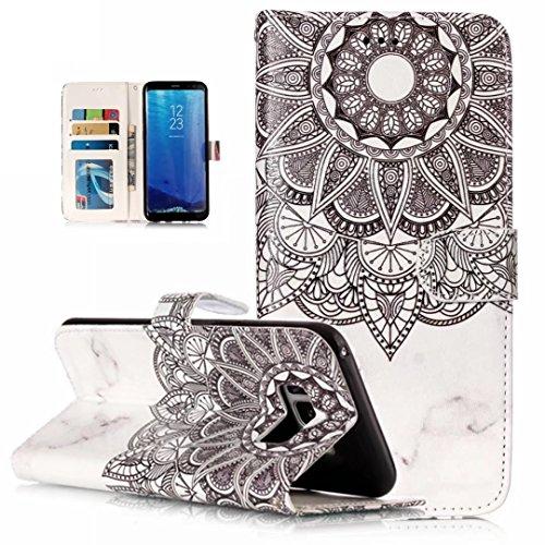 iPhone 5/5S/5SE hoesje PU Lederen Flip portemonnee case credit card slot functies magnetische off stent functie 3D patroon patroon ontwerp beschermende DECHYI case, Portemonneehouder, FD11, Samsung Galaxy S8