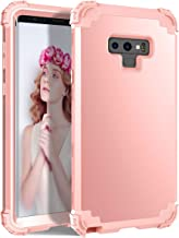 Galaxy Note 9 Case for Women, ZHK Stylish Three Layer Shockproof Heavy Duty (Full Body Protection) Armor Girls Anti-Scratch Protective Cover for Samsung Galaxy Note 9 (2018 Release) - Rose Gold