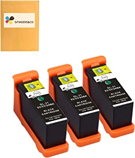 3 Pack Compatible D-21/22/23/24 Black Ink Cartridge Replacement for DELL V313/V313W/V515W/P513W/P713W/V715W (3BK)