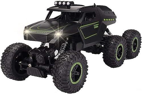 Kikioo 6WD RC Truck-Fernbedienung Off-Road-Metall-Shell-Fahrzeuge Hobby Elektrische Schnellkletternde Autos Hochgeschwindigkeits-Blinklicht 2,4 GHz Funkgesteuerter Rock Crawler All-Terrain-RTR-Racer-B