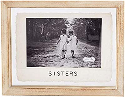 """Mud Pie """"Sisters Photo Picture Frame Family Kids Holds 4"""" x 6"""""""