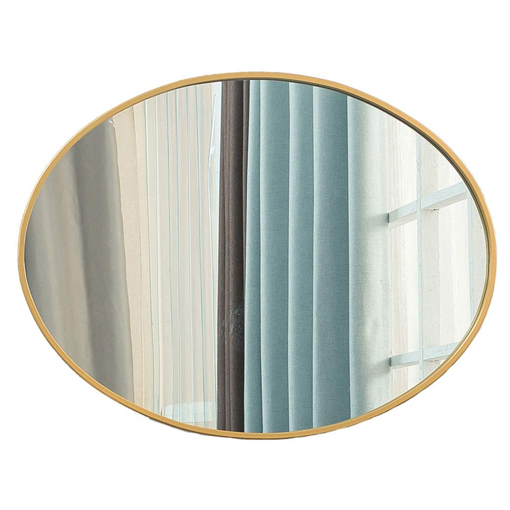 cheap Beauty mirror Oval Max 80% OFF Bathroom Wrought Bed Mirror Iron Wall-mounted