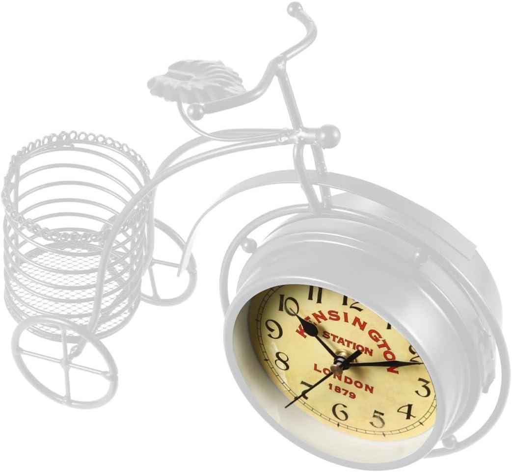 BESPORTBLE Vintage Retro Table Clock Sile Low price Bike Ticking ...