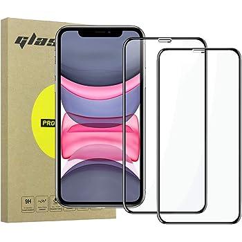 Simpeak 2-Pack Cristal Templado Compatible para iPhone 11/XR [6,1 Pulgadas], Protector de Pantalla Premium Vidrio Templado Compatible con iPhone 11 Bubble Free/HD Clear - Negro