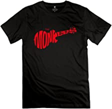 YIYT Men's The Monkees Guitar Rock Band Logo T-Shirt - Black