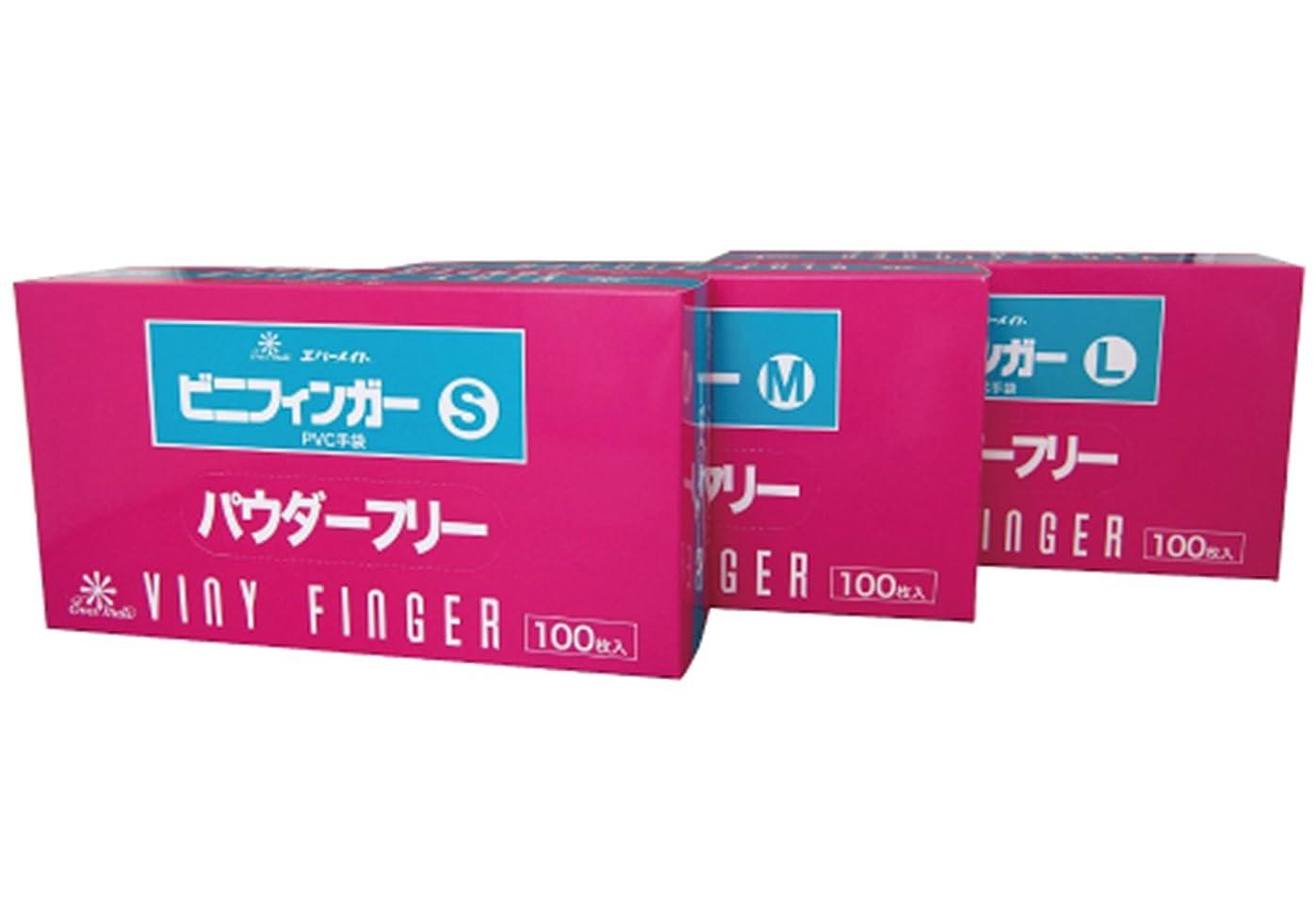 アスリート勇気家具エバーメイト ビニフィンガーグローブ パウダーフリー 100枚入 (S)