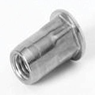 Pre-Bulbed Body Zinc YLW 100 PK LG FLNG HD Slotted Body Insert 1//4-20 AES25P280PBZYR .020-.280 GR Steel