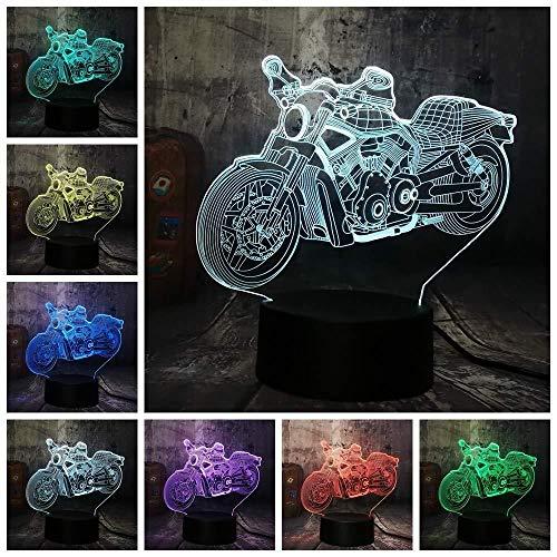 Motocicleta - D 16 Color Controller 3D Gradient Night Light/Dormitorio Sleeping Kids Child Birthday Gift/Illusion Desk Lamp/LED Night Lights