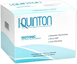 Original Quinton Isotonic - Liquid Mineral Replenishment + Hydration Formula with Raw Unheated Ocean Minerals, Formula to Support Detox, Sleep + Digestion (30 Single Serving Vials)