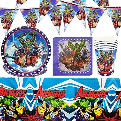 Doyomtoy Tema de Héroe de Ciencia Ficción Cumpleaños Decoracion Fiesta, Juego de Vajilla de Cumpleaños Para Niños, Cumpleaños Decoraciones Suministros Regalos Carnaval Vajilla