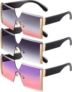 3 Pieces Oversized Square Sunglasses Women Fashion...