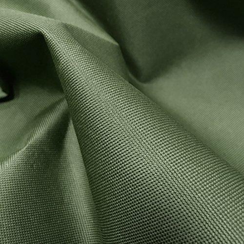 A-Express Pesado 600D Tela Gruesa Lona Impermeable al Aire Libre Cubrir Material Vendido por el medidor - Medio Metro (50cm x 150cm) Verde oliva