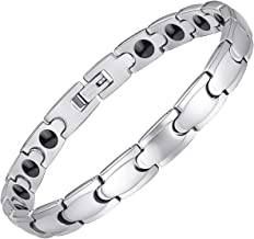 Feraco Magnetic Bracelet for Women Elegant Titanium Stainless Steel Magnet Therapy Bracelets for Arthritis Pain Relief Health Gifts