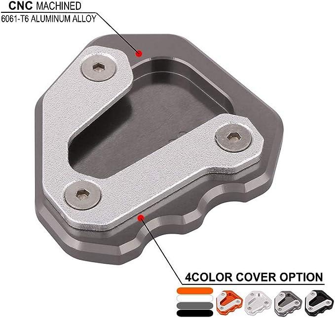 An Xin Cnc Motorrad Seitenständer Ständer Erweiterung Fußplatte Pad Für 1290 Super Duke Gt 2013 2018 Auto