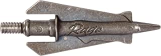 RAGE Hypodermic 2 Blade 100 Grain Practice Broadheads (3 Pack), Small
