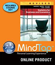 MindTap Business Statistics for Anderson/Sweeney/Williams/Camm/Cochran's Statistics for Business & Economics, Revised, 12th Edition