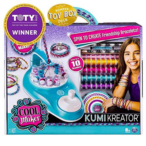 Cool Maker, KumiKreator Friendship Bracelet Maker, Makes Up to 10 Bracelets, for Ages 8 and Up, Upgrade Version