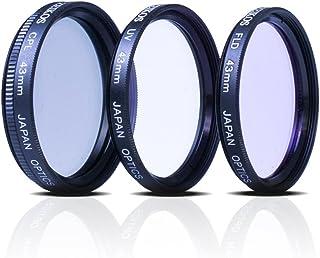 Zeikos 43mm Multi Coated 3 piece Glass Filter Set (UV, Fluorescent, Circular Polarizer) For Canon Vixia HF R80, HF R82, HF R800, HF R70, HF R72, HF R700, HFM40, HFM41, HFM52, HFM400 & HFM500 Camcorder