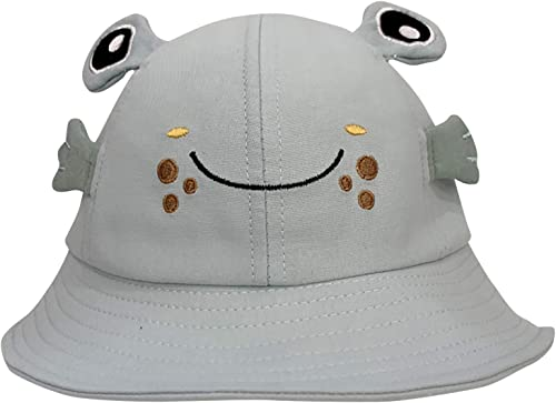discount Cute Bucket Hat for Kids,Spring sale Cotton Sun Hat Cute Animal Hat Outdoor Foldable Wide Brim Fisherman Hat, Summer Sun Protection Bucket Cap online Blue sale
