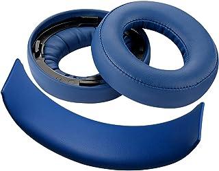 Geekria - Almohadillas de repuesto para Playstation Gold Wireless/Sony PS4/PS3/PSV para auriculares inalámbricos y diadema (azul/azul)