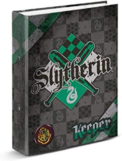 Carpeta Archivador HARRY POTTER Quidditch, Din-A4 4 Anillas 35 mm. (Slytherin)