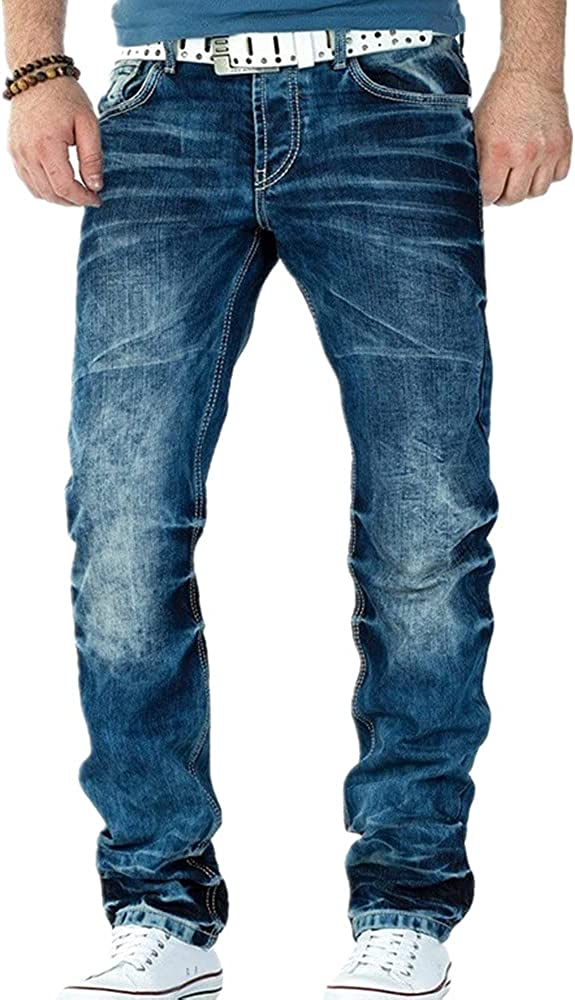 N\P Men's 5% OFF Jeans Ripped Slim Limited Special Price Pleated Denim Fit Male