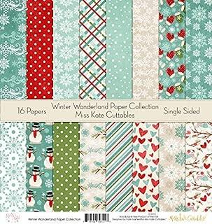 Pattern Paper Pack - Winter Wonderland - Scrapbook Specialty Paper Single-Sided 12