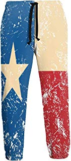 NTQFY Texas Flag Star Jogger Pants Quick Dry Sweatpants with Elastic Waist Casual Pants for Men
