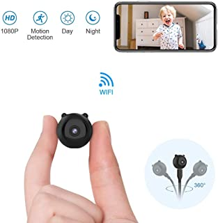GXSLKWL HD 1080P Indoor Home Smallest Spy Nanny Cam Security Cameras Spy Hidden Camera Mini Wireless WiFi Camera Battery P...
