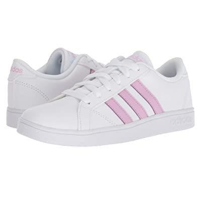 adidas Kids Baseline CMF (Infant/Toddler) (Footwear White/Clear Lilac/Footwear White) Kids Shoes