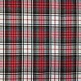 Panini Tessuti Tissu tartan (fantaisie écossaise), vendu au demi-mètre (quantité 1 = 50cm ; quantité 2 = 100cm) Tissu idéal pour la couture de: chemise, jupe, kilt.