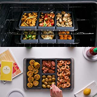 4PCS Set Cheat Sheets-Sheet Pan Cooking Reimagined Nonstick Silicone Baking Tray Bakeware Tools