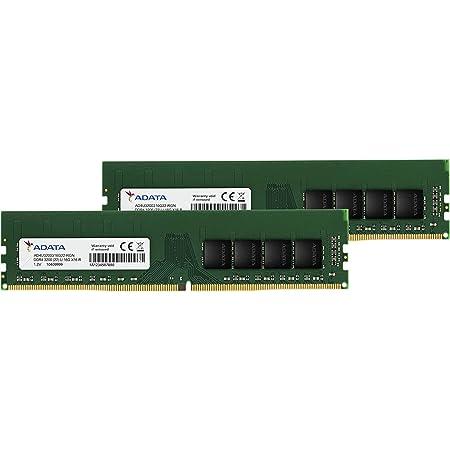 ADATA デスクトップPC用 メモリ PC4-25600 DDR4-3200MHz 288Pin 16GB × 2枚 AD4U3200716G22-DA