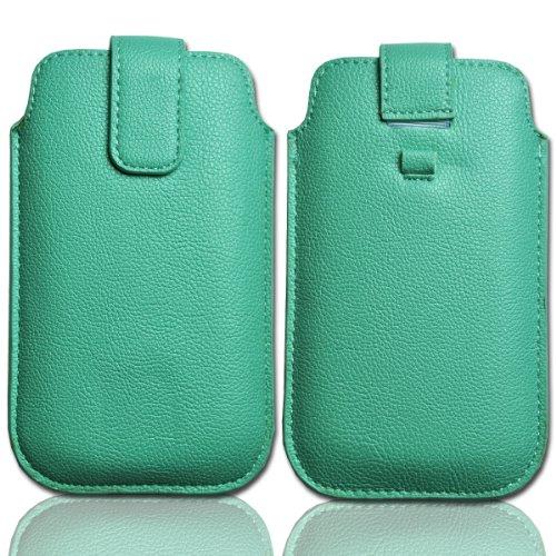 Handy-Punkt–Funda protección piel verde/menta W20Talla 3para Huawei Honor/Huawei Ascend G300/Sony Xperia P/Sony...