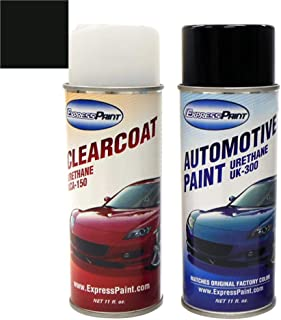 ExpressPaint Aerosol - Automotive Touch-up Paint for Infiniti G35 - Black Obsidian Clearcoat KH3 - Color + Clearcoat Package