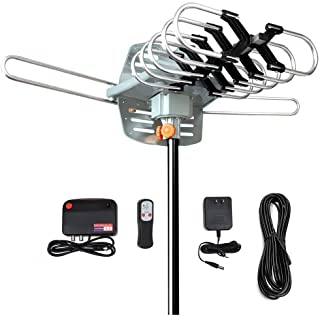 TV Antenna,Outdoor Digital Amplified HDTV Antenna 150 Miles Range, Without Pole