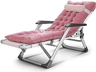 MHIBAX Gaming Chair Chaise debureau avec accoudoirs Chaise longue pliante réglable extérieure, Chaise de patio portable...