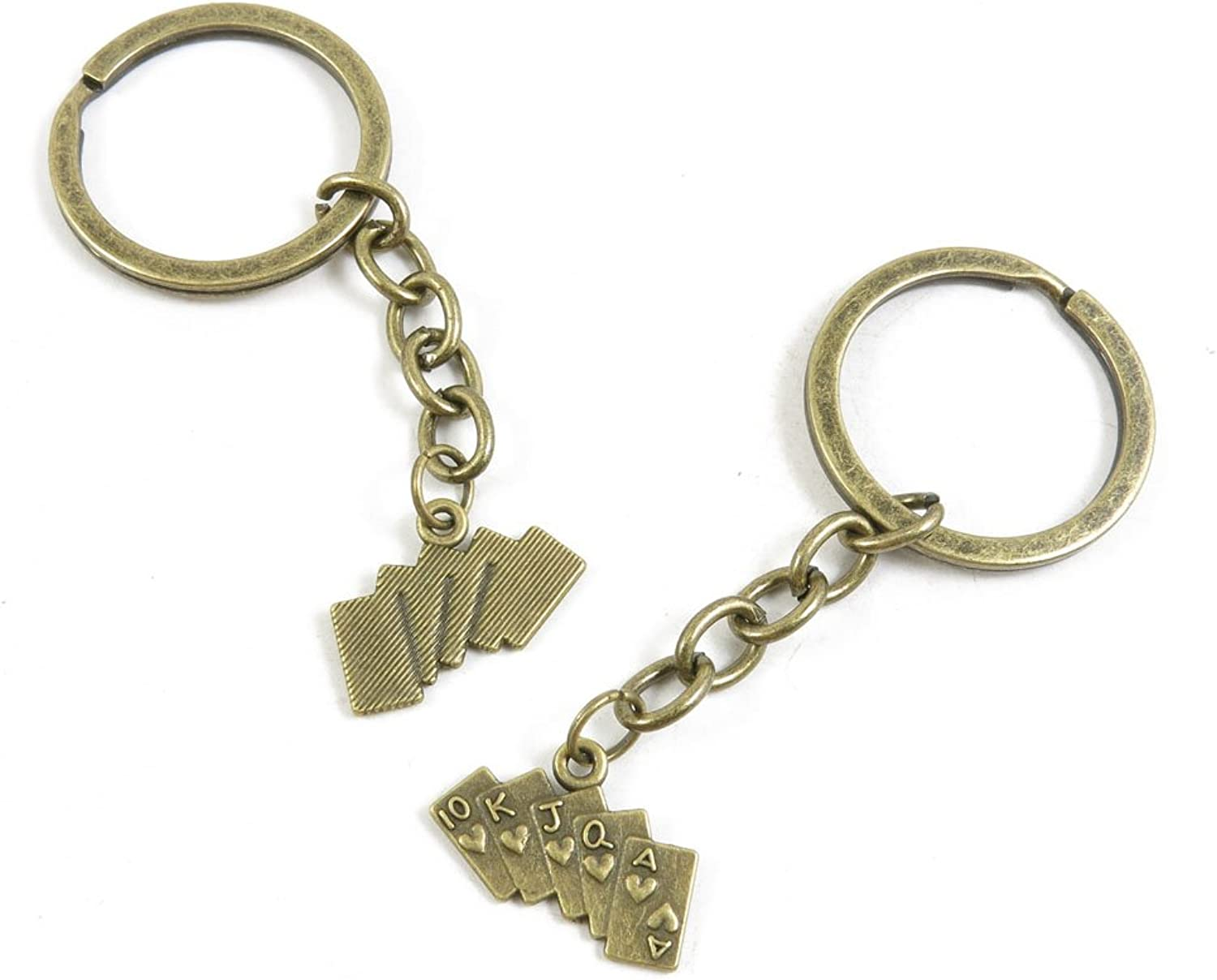 220 Pieces Fashion Jewelry Keyring Keychain Door Car Key Tag Ring Chain Supplier Supply Wholesale Bulk Lots S3VT1 Poker Straight Flush