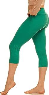 Lush Moda Extra Soft Capri Leggings - Variety of Colors - Yoga Waist - Green - Plus Size